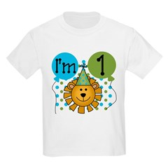 Lion 1st Birthday Kids Light T-Shirt