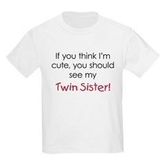 Cute Twin Sister - Kids Light T-Shirt