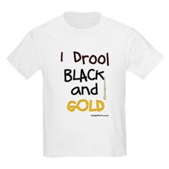 Black and Gold Kids Light T-Shirt