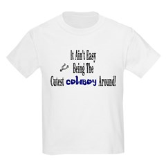 -Cutest Cowboy Around Kids Light T-Shirt
