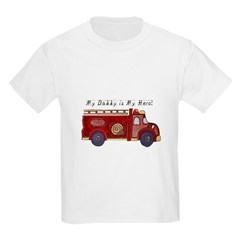My Daddy is My Hero (Fireman) Infant Creeper Kids Light T-Shirt