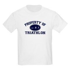 Property of Triathlon Icons Kids Light T-Shirt
