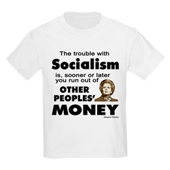Thatcher Socialism Quote Kids Light T-Shirt