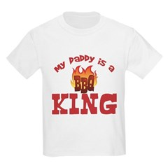 Daddy is a BBQ King Kids Light T-Shirt