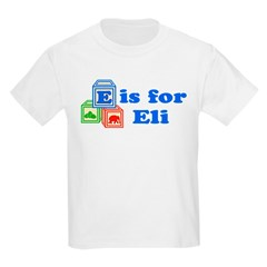 Baby Name Blocks - Eli Kids Light T-Shirt