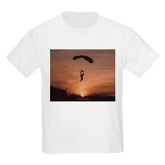 Sunset Skydiver Kids Light T-Shirt