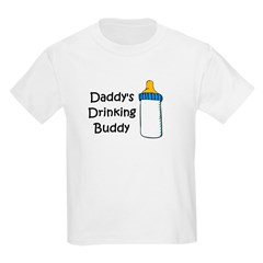 Daddy's Drinking Buddy Kids Light T-Shirt
