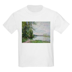 The Riverside Road from Veneux to Thomery by Alfre Kids Light T-Shirt