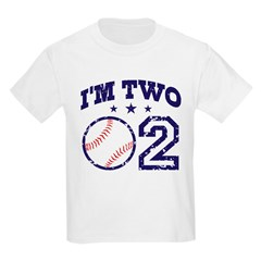 Two Year Old Baseball Kids Light T-Shirt