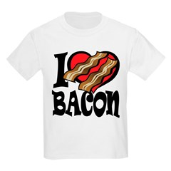 I Love Bacon Kids Light T-Shirt