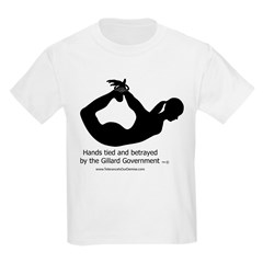 Betrayed by-Gillard Govt-Female.jpg Kids Light T-Shirt