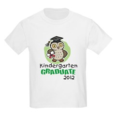 Kindergarten Graduate 2012 - Owl Kids Light T-Shirt