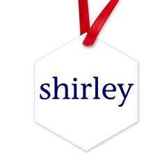 Shirley Hexagon Ornament