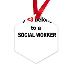 Social Worker Hexagon Ornament