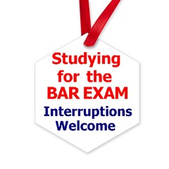 Bar Exam Hexagon Ornament