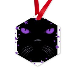 Boo - Amethyst Hexagon Ornament