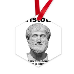 Aristotle Liberty Hexagon Ornament