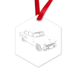 Chevy Bel Air Hexagon Ornament