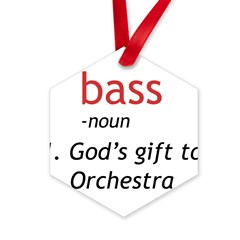 Bass Definition Hexagon Ornament