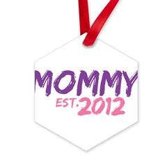 Mommy Est 2012 Hexagon Ornament