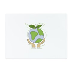 earthfriendhands.png Glass Cutting Board