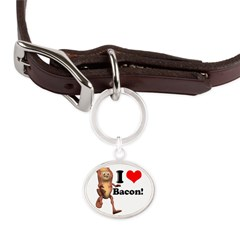 bacon copy.jpg Large Oval Pet Tag