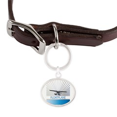 Aircraft Float Plane Large Oval Pet Tag