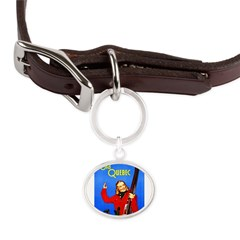 Quebec Travel Poster 1 Large Oval Pet Tag