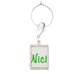 Nick Glitter Gel Large Portrait Wine Charm