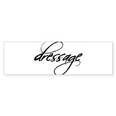 dressage (black text) Oval Sticker (Bumper)