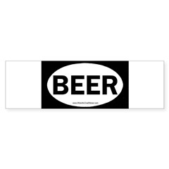 BEER Oval Sticker (Bumper)