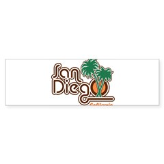 San Diego California Rectangle Sticker (Bumper)