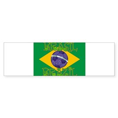 Brazil soccer Rectangle Sticker (Bumper)