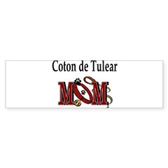 Coton de Tulear Mom Rectangle Sticker (Bumper)