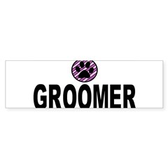 Groomer Purple Stripes Rectangle Sticker (Bumper)