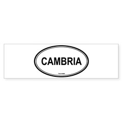 Cambria oval Oval Sticker (Bumper)