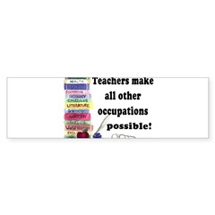 """Teacher Occupations"" Rectangle Sticker (Bumper)"