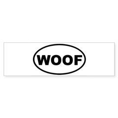 Woof Oval Sticker (Bumper)