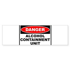 Alcohol Containment Rectangle Sticker (Bumper)