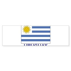 Uruguay Flag Gear Rectangle Sticker (Bumper)