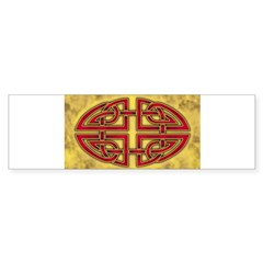 Celtic Knotwork (Red) Oval Sticker (Bumper)