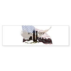 9/11/01 Rectangle Sticker (Bumper)