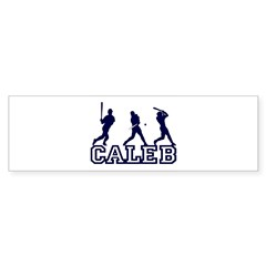 Baseball Caleb Personalized Sticker (Bumper)