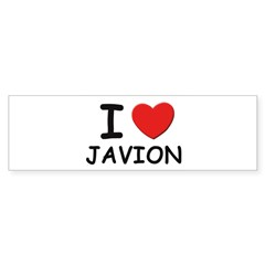 I love Javion Rectangle Sticker (Bumper)