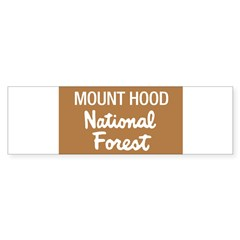 Mount Hood (Sign) National Fo Sticker (Rectangular Sticker (Bumper)