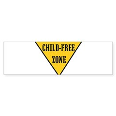 Child-Free Zone Sticker (Bumper)