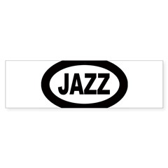 Jazz Car Oval Sticker (Bumper)