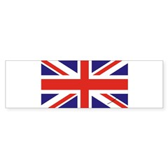 British Flag Euro Oval Sticker (Bumper)