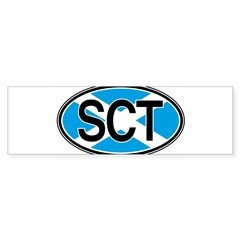 Scotland Euro Oval Sticker (Bumper)