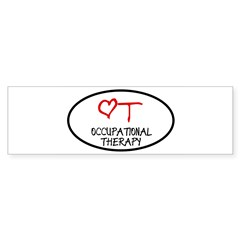 Occupational Therapy Heart Oval Sticker (Bumper)